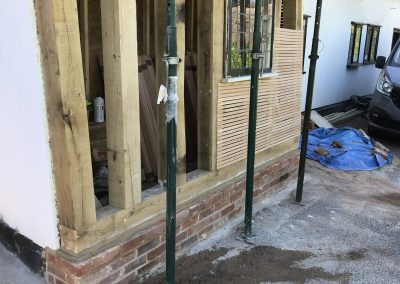 Boxford Listed Building Oak Wall Repair