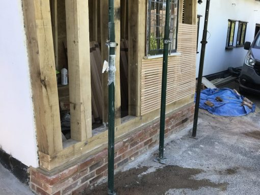 Boxford Listed Building Oak Wall Repair